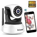 Cámara IP 1080P Sricam SP017, Cámara WiFi Vigilancia Bebe Interior HD...